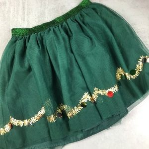 Cat & Jack Holiday Skirt Girls XL 14/16 Green